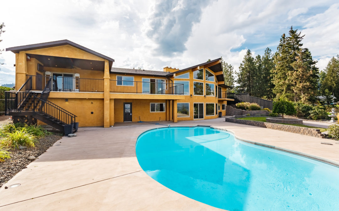 Unique 5 bed 4 bath home in West Kelowna overlooking the lake, $4990, now!